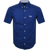 BOSS Athleisure Biadiar Short Sleeved Shirt Blue